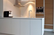 keuken hoogglans wit met eiken
