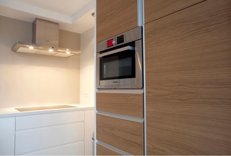 ... Modern Wit Met Castel Oak : Nl.loanski.com Keuken Greeploos Modern Wit