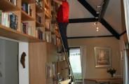 grote boekenkast van eiken fineer