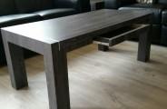 salontafel met lade weg gewerkt onder blad