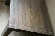 bijzet tafel met rvs strip inleg