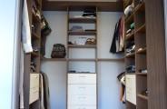kledingkast hout decor met HG wit lades