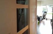 dubbel schuifdeuren open en dichte voor open trap en trappenkast