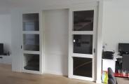 dubbele schuifdeur woonkamer vaste midden paneel