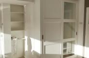 schuifdeuren met rechts een dichte vaste paneel